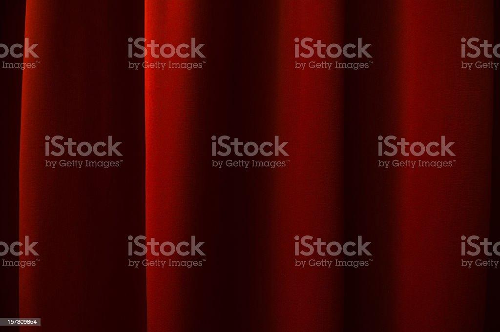 Dunklen roten Vorhang – Foto