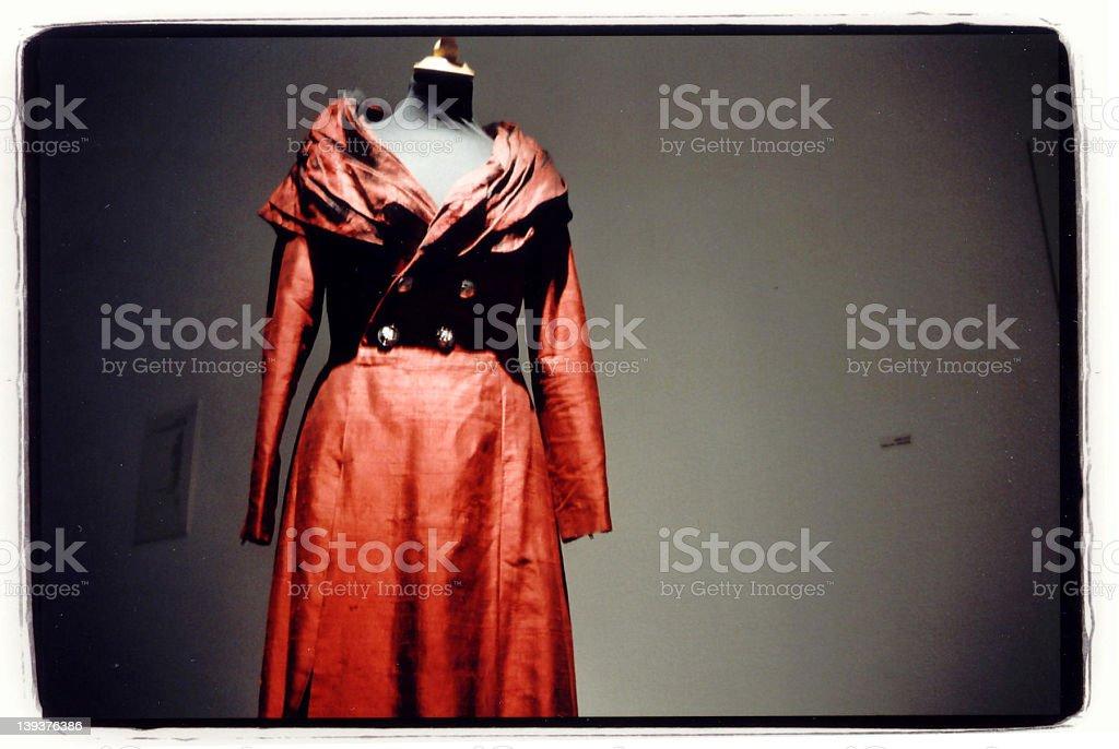 Dark Red Dressed Fashion-Dummy royalty-free stock photo
