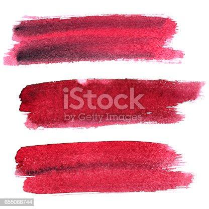 istock Dark red expressive brush strokes 655066744