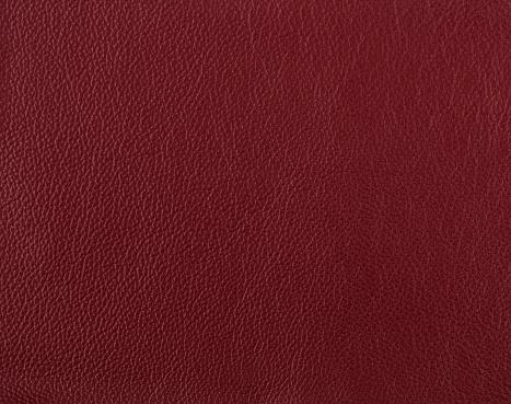 Dark red leather sample