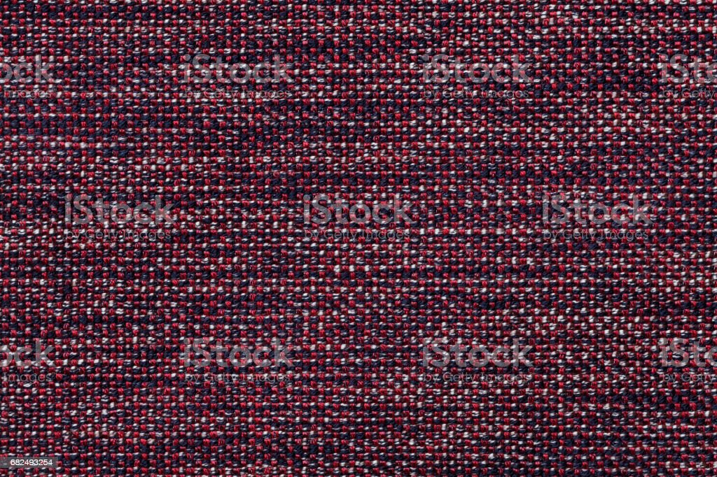 Dark red textile background with checkered pattern, closeup. Structure of the fabric macro. foto de stock royalty-free