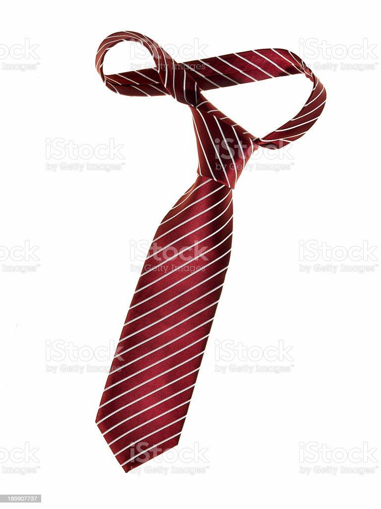 Dark red tie stock photo
