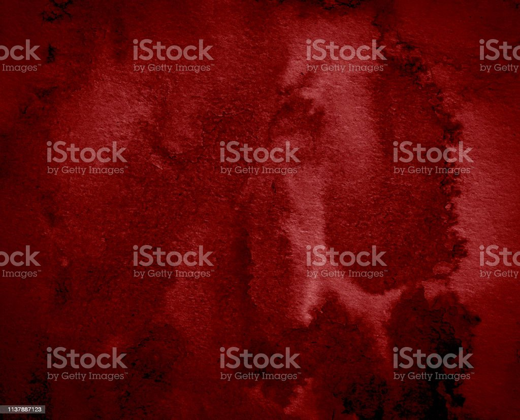 Dark red watercolor abstract background, stain, splash of paint,...