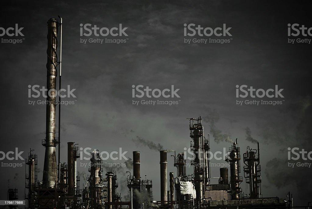 Dark Refinery royalty-free stock photo