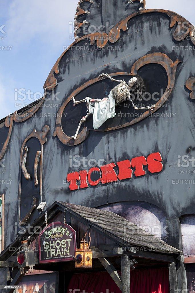 Dark Ride, Ghost Train stock photo