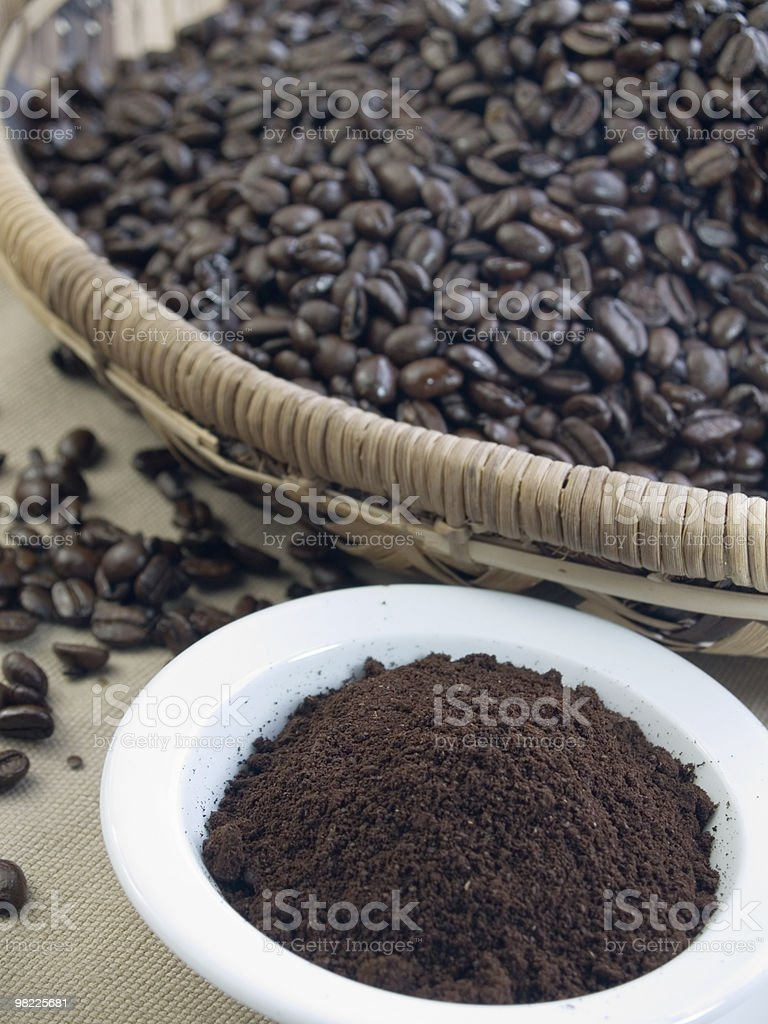 Dark roast coffee beans royalty-free stock photo