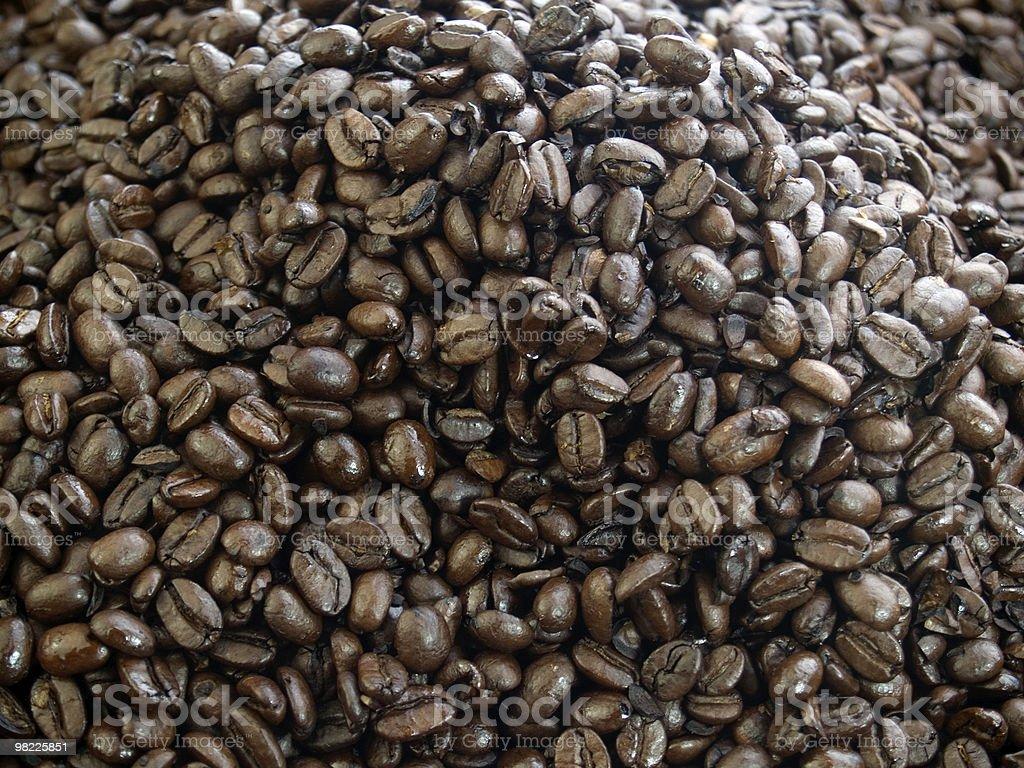Dark roast coffee beans royalty-free stock photo