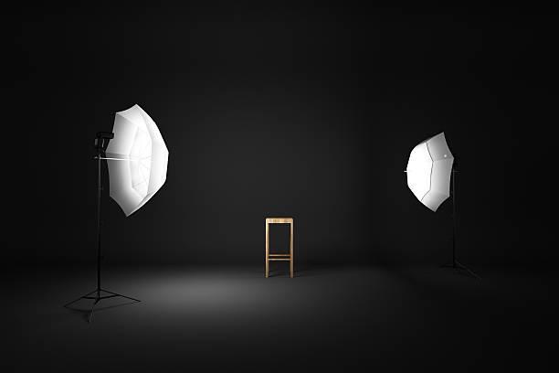 dark room studio stock photo
