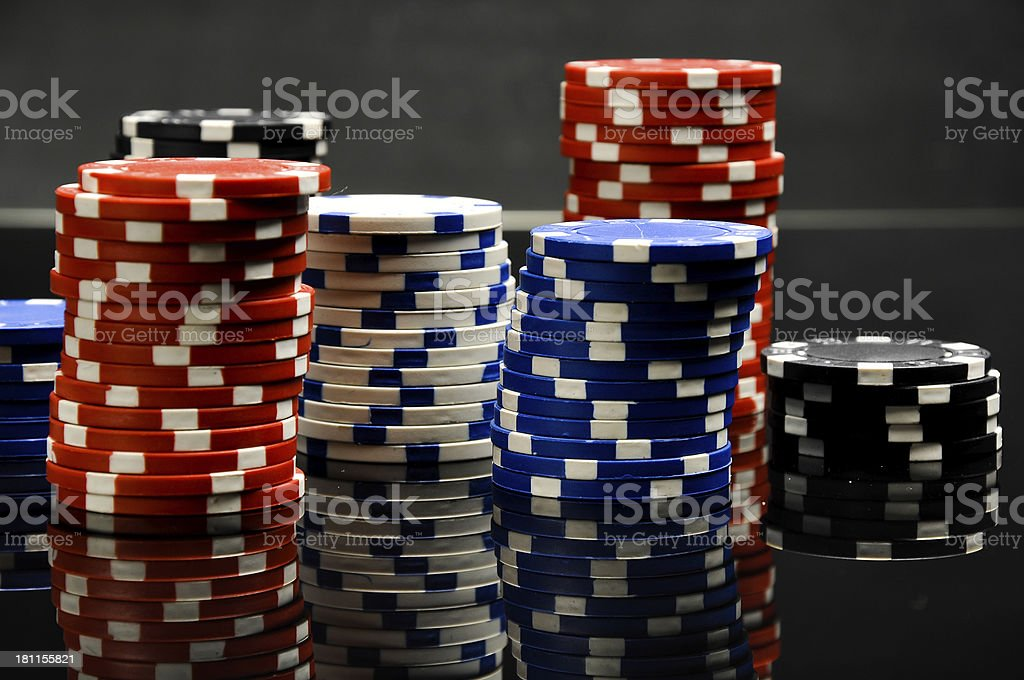 Dark roulette, casino theme with gambling stuff royalty-free stock photo