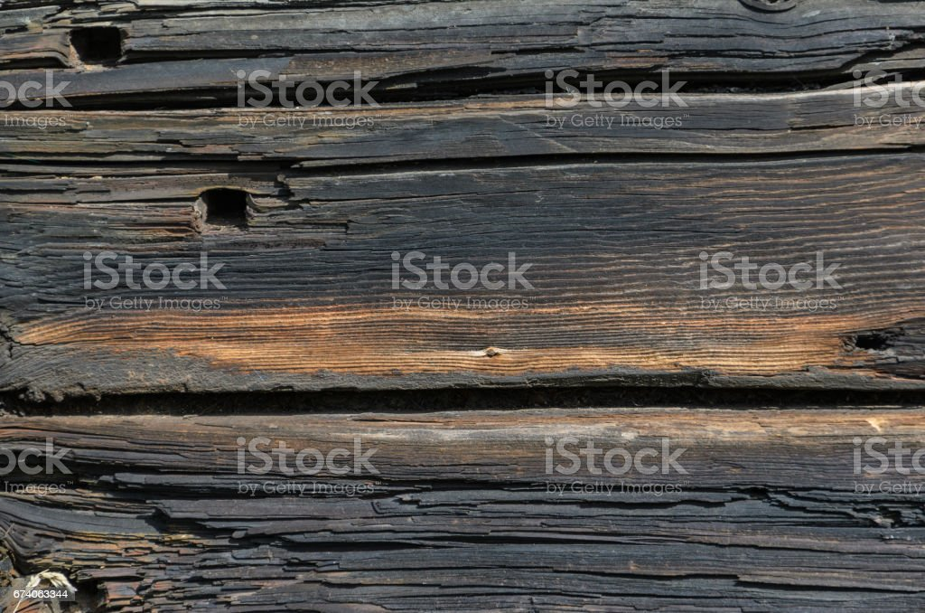 Dark Rustic House Log Wall royalty-free stock photo