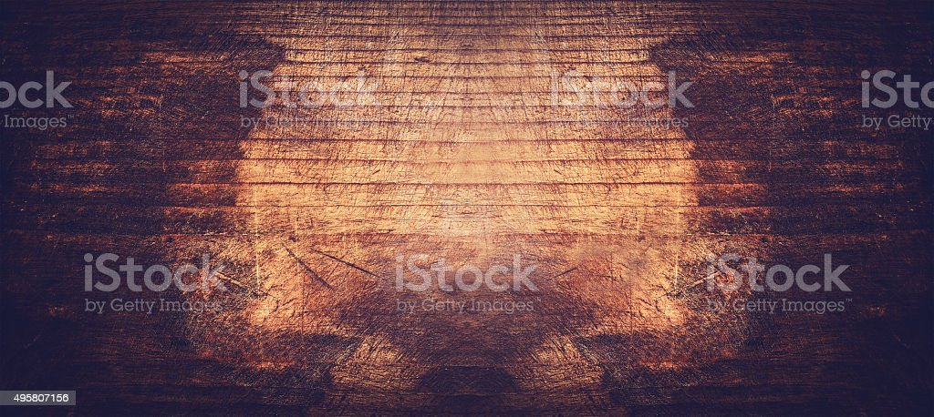 Dark Rustic Wooden Background Vintage Toned Banner Royalty Free Stock Photo