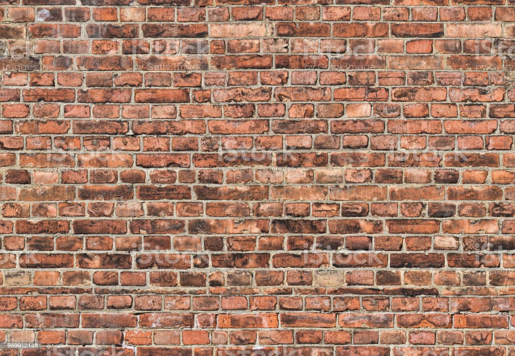 dark seamless background from old bricks stock photo