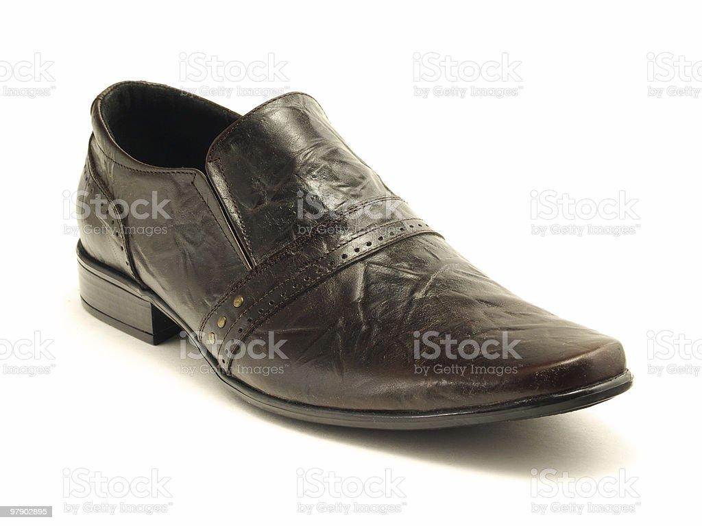 Dark shoe royalty-free stock photo