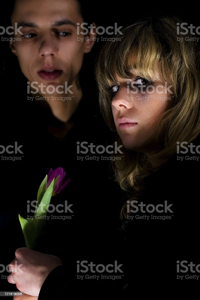 dark side couple royalty-free stock photo