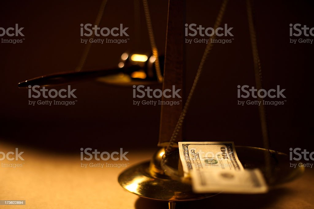 Dark side of justice royalty-free stock photo
