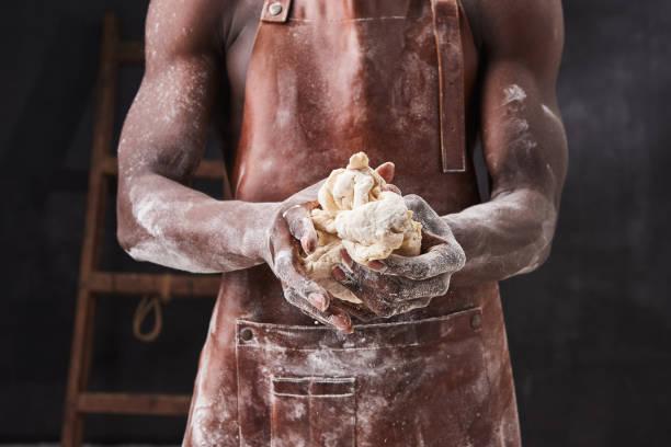 Dark skin baker man kneads dough in the kitchen pastry chef prepares picture id1221193336?b=1&k=6&m=1221193336&s=612x612&w=0&h=hthxue7nsdritv5lpwthpqh3pnctb1sd8jxdpsj 0wy=