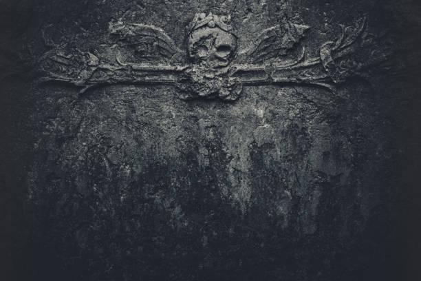 Dark skull background stock photo
