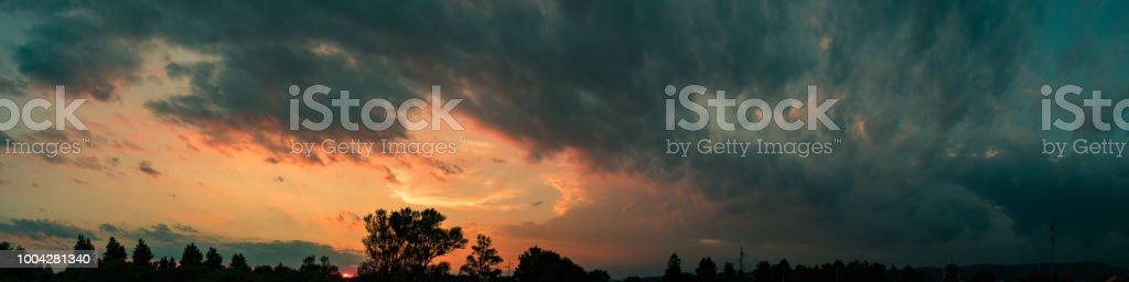 Dark sky panorama stock photo