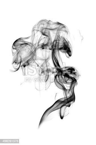 istock Dark smoke isolated 496261375