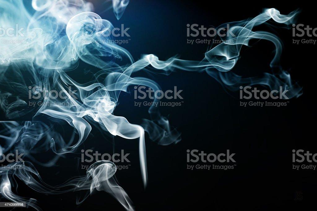 Dark Smoke whisps stock photo