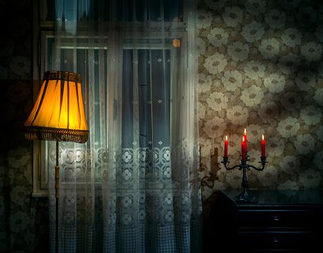 Dark spooky old room
