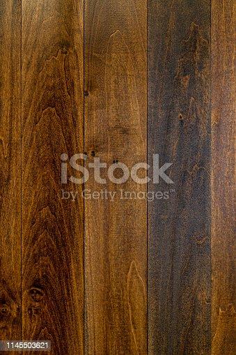 istock Dark Stained Planking Background 1145503621