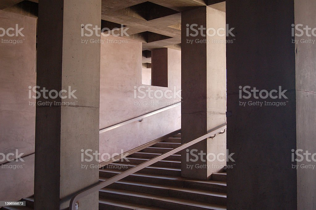 dark stairs stock photo