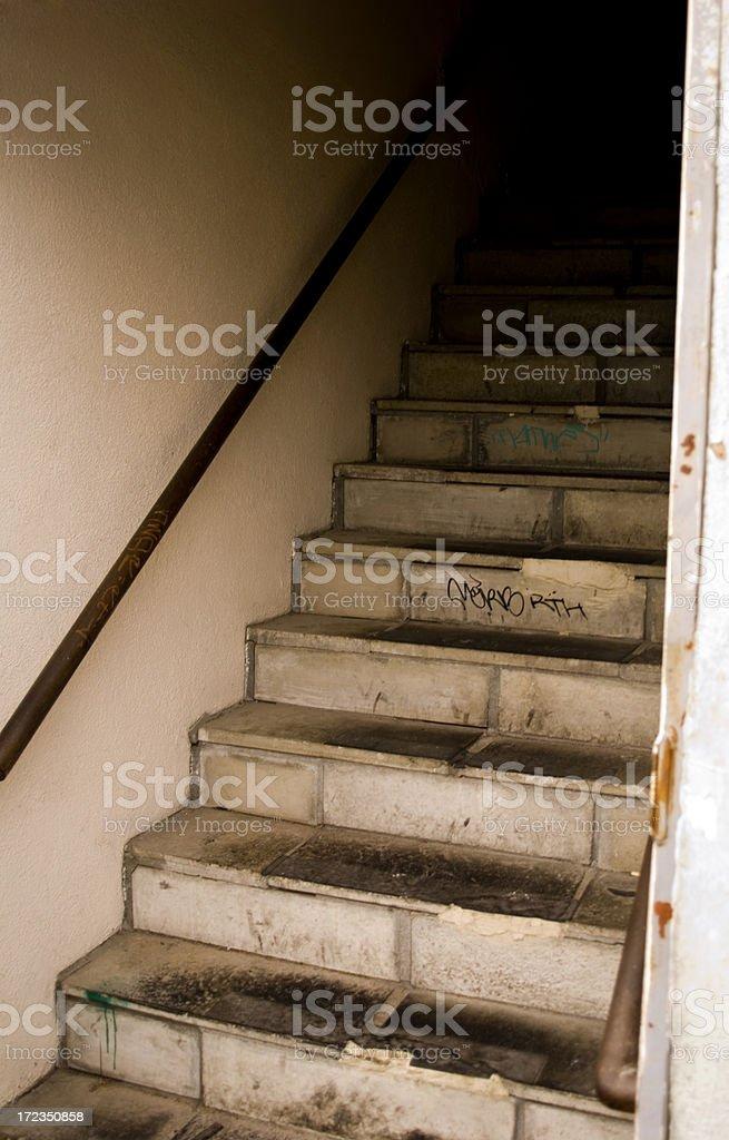 Escalera de color foto de stock libre de derechos