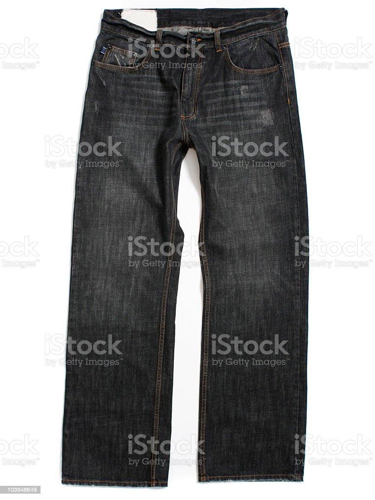 Acciaio Scuro Jeans Coloratisfondo Bianco Fotografie Stock E Altre