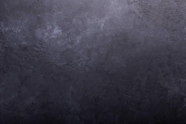 donkere steen textuur achtergrond kopie ruimte die plat leggen - leisteen stockfoto's en -beelden