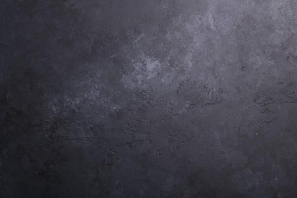 ダークストーンテクスチャ背景コピースペースフラットレイ - 黒 背景 ストックフォトと画像