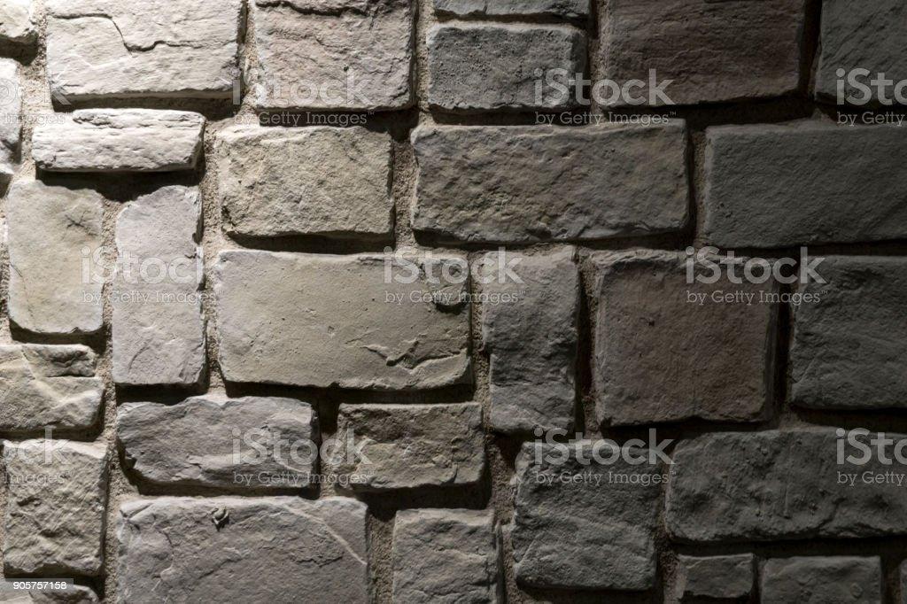 Dark Stone Wall stock photo