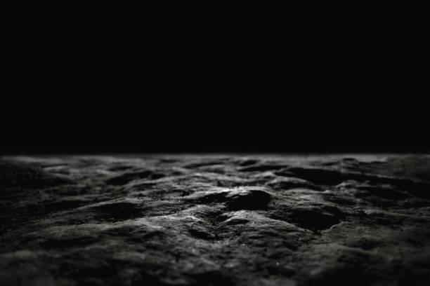 Dark stony floor background stock photo