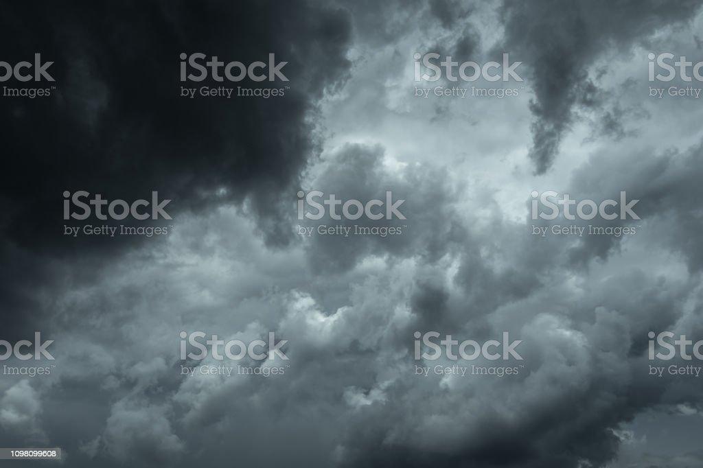 Dark storm clouds before the rain. Bad weather, rain clouds.