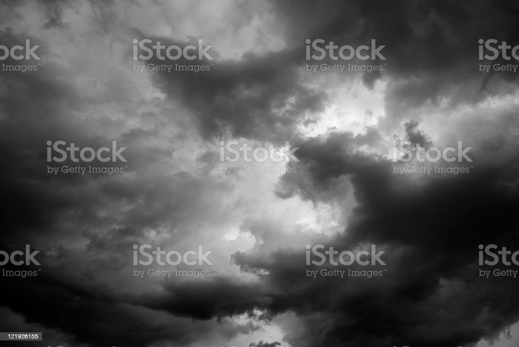 Dark Storm Clouds royalty-free stock photo