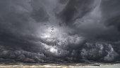 Rain cloud storm