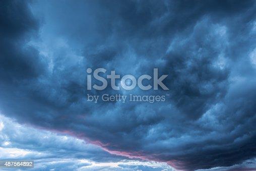 istock Dark storm clouds. 487564892