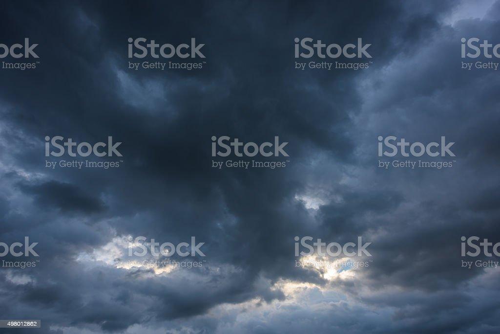 Dark storm clouds stock photo