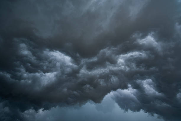 dark storm clouds with background,Dark clouds before a thunder-storm. – zdjęcie