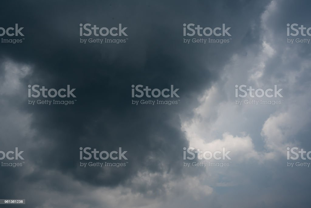 dark storm clouds with background,Dark clouds before a thunder-storm. stock photo