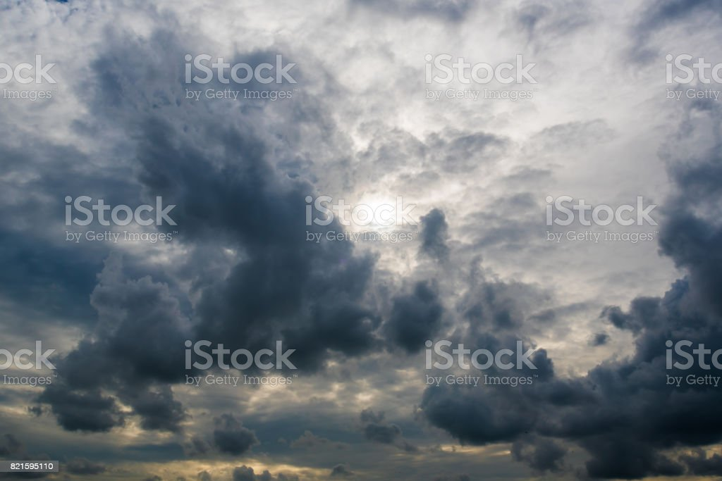 dark storm clouds,clouds with background,Dark clouds before a thunder-storm. stock photo