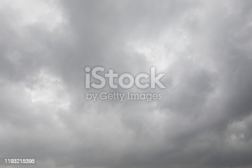 istock Dark stormy clouds for background 1193215395