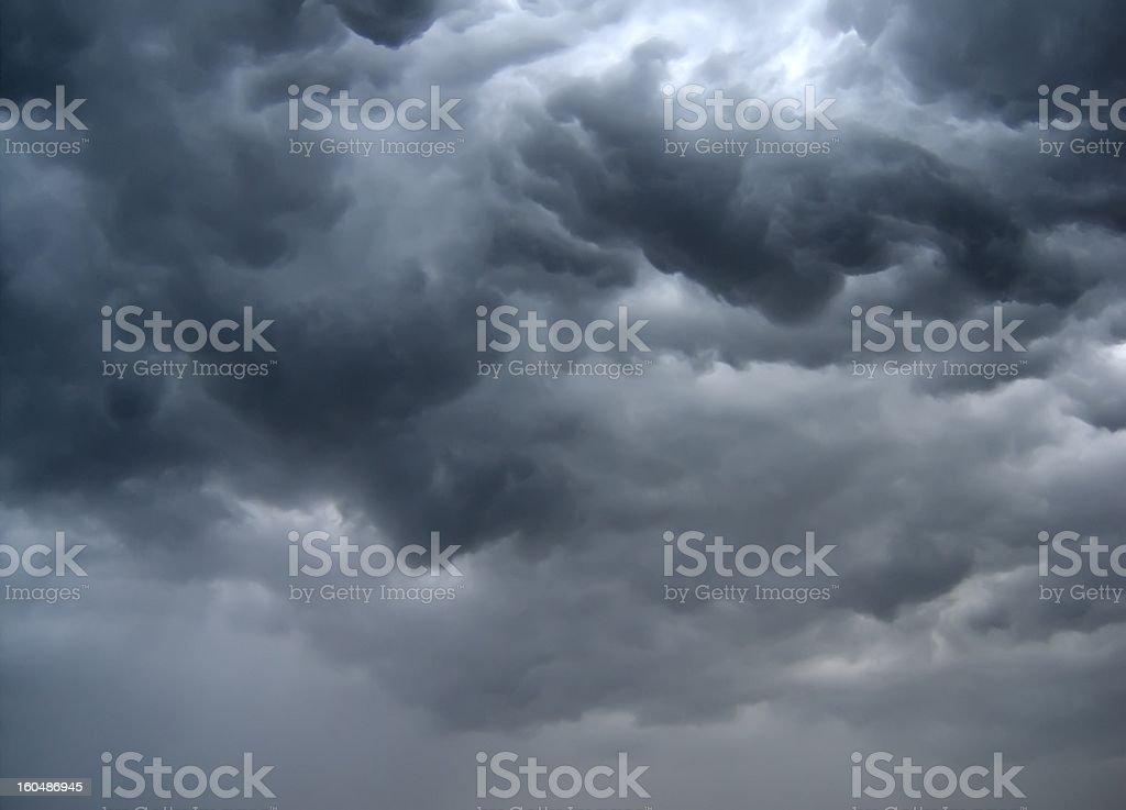 dark stormy clouds stock photo