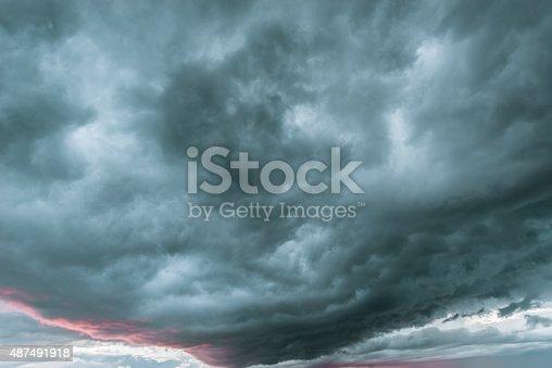 1089986346 istock photo Dark stormy clouds. 487491918