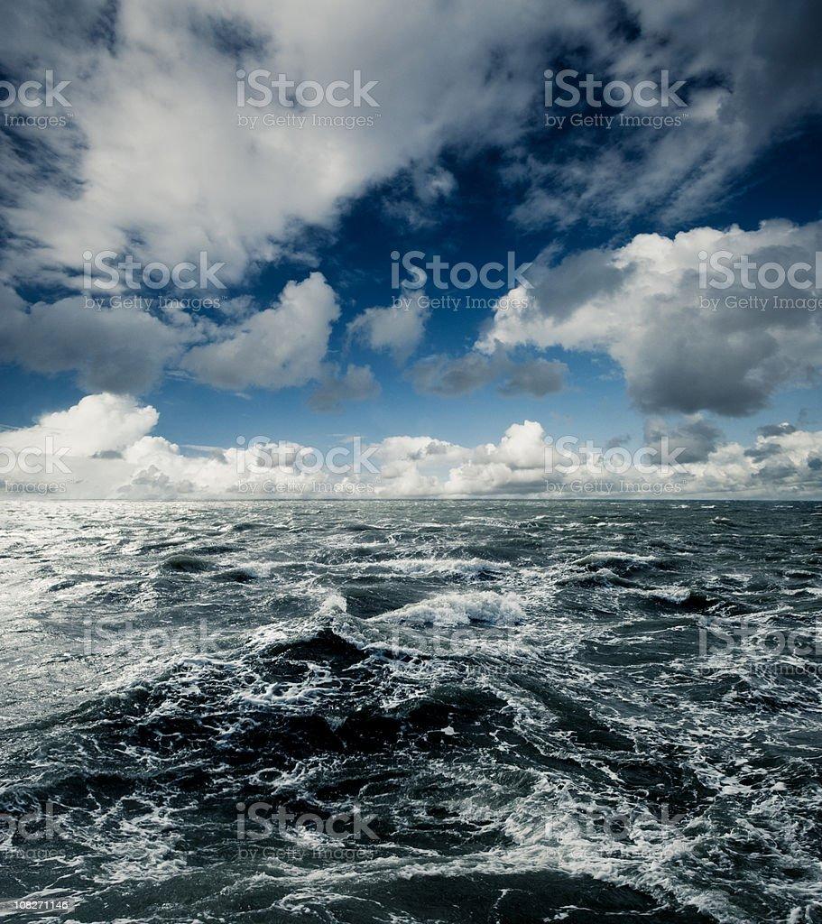 Dark stormy Sea Waters royalty-free stock photo