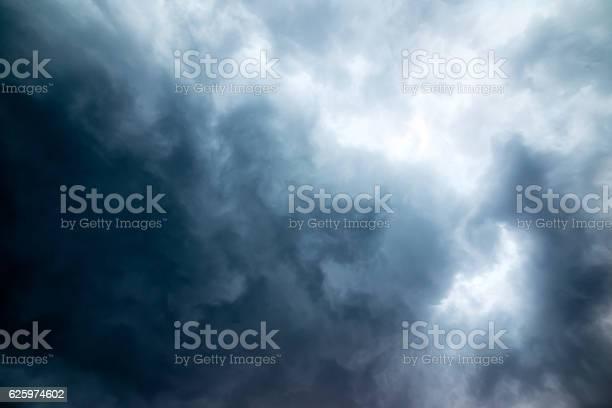 Photo of dark stormy sky