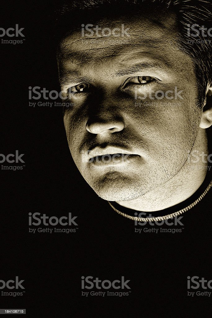Dark Stranger royalty-free stock photo