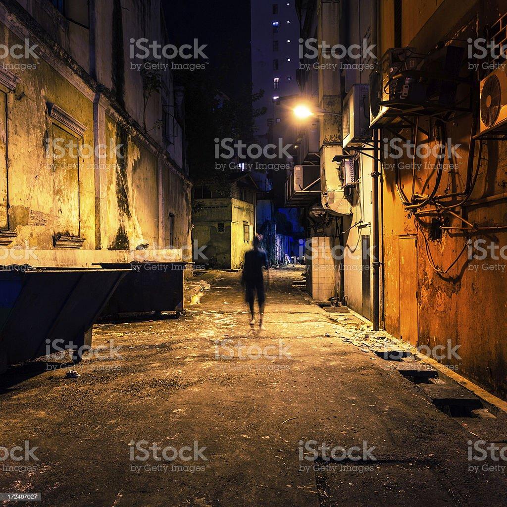 Dark Street in Dangerous City royalty-free stock photo