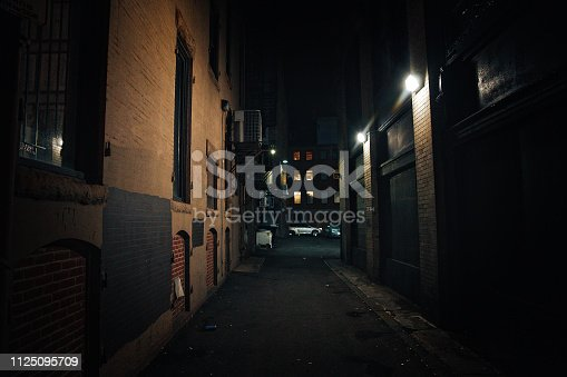 urban slums at night