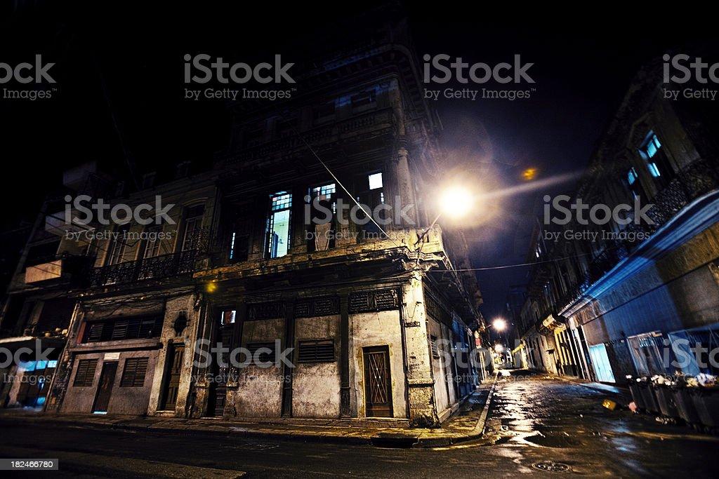dark streets corner royalty-free stock photo